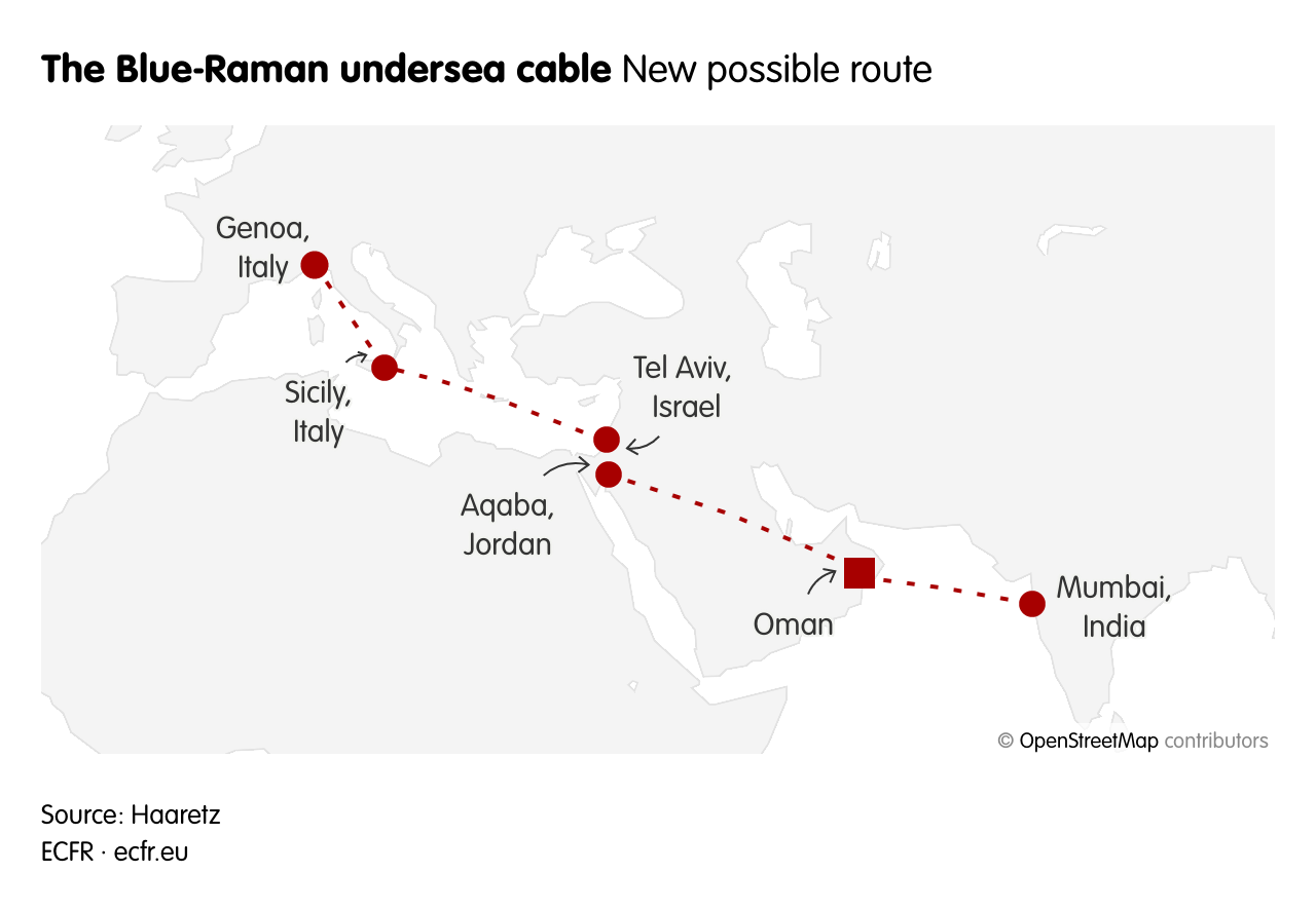 The Blue-Raman undersea cable